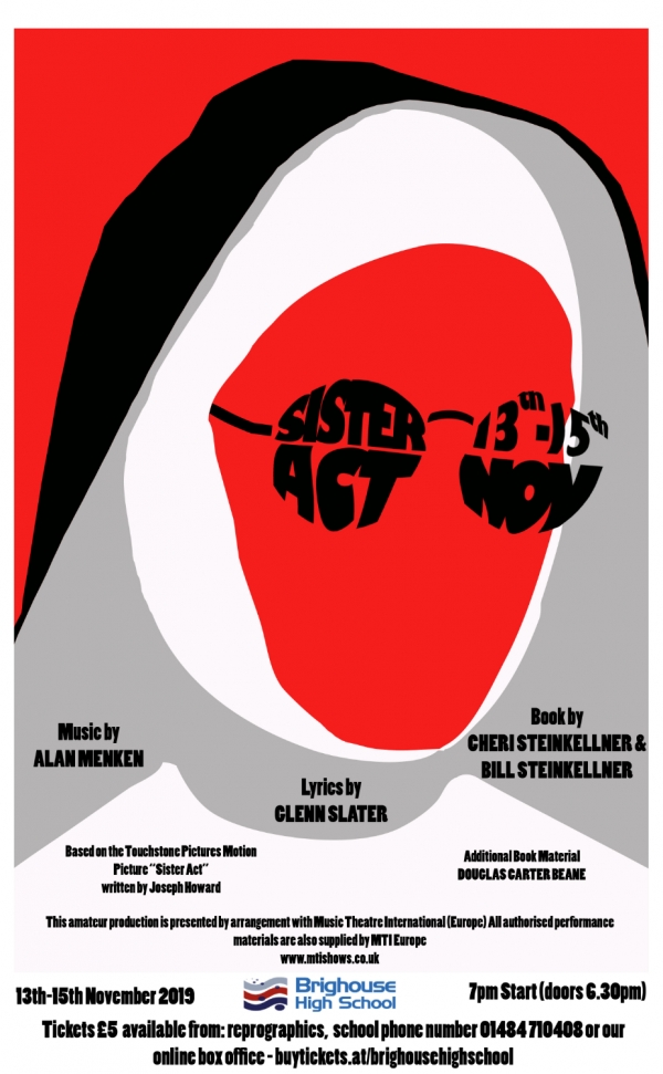 Sister Act Poster details and logo