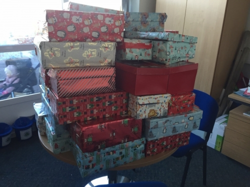 Teams4U Shoebox Appeal - 57 boxes collected!