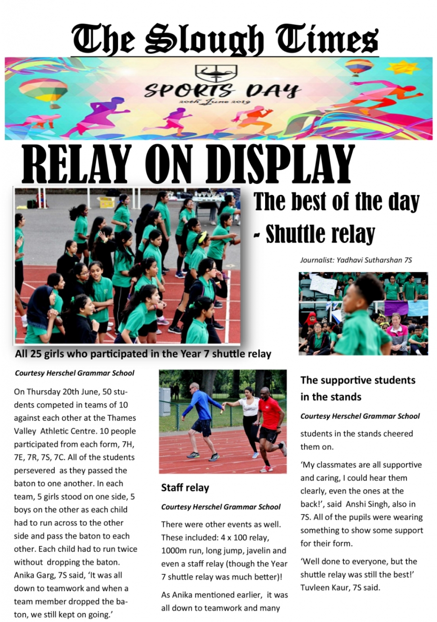 Newspaper Report Sports Day
