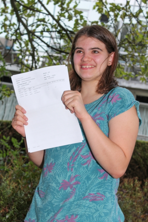 Eleanor Trudinger (A*, A*, A*) will be studying Chemistry at York