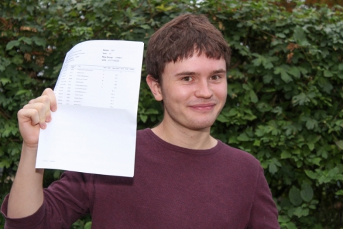 Ben Crossey (A*, A*, A*) will be studying Theoretical Physics at Manchester having declined an offer from Cambridge University!
