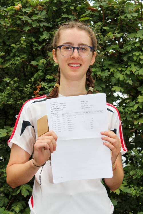 Evie Harms has used her outstanding A Level grades including an A* in Physical Education to secure a place at Birmingham