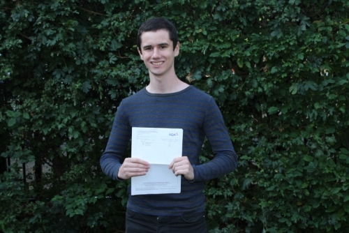 Eli Wiener's highly impressive 4 A grades at A Level have enabled him to study Physics at Birmingham