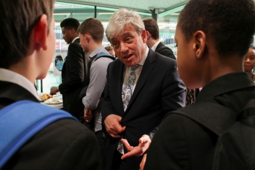 Right Hon John Bercow MP Visits Kingsdale