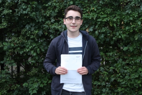 Jude Wilkinson will study Physics at Birmingham using his A*, A & A grades