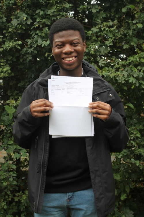 Ricardo Parsons (A, A, A) will be studying Biochemistry at Birmingham