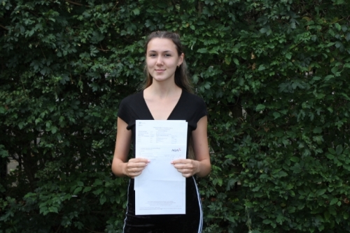 Sophia McQueen (A*, A, A, A) will be studying Neuroscience at Bristol