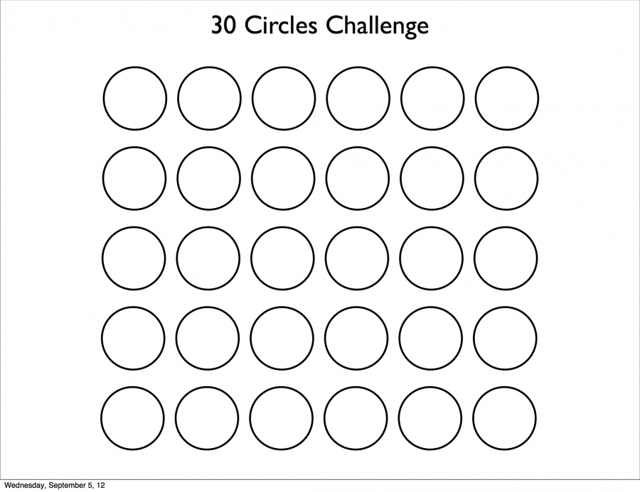 Why Dont You Try The 30 Circles Challenge