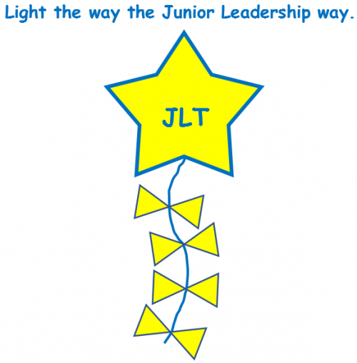 Junior Leadership Team Logo - Light the way the Junior Leadership way.