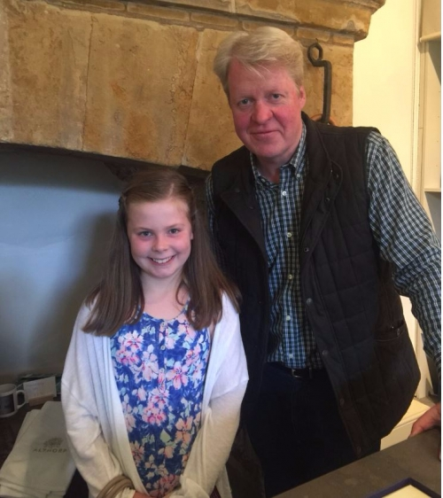 Meeting Earl Spencer at Althorp House