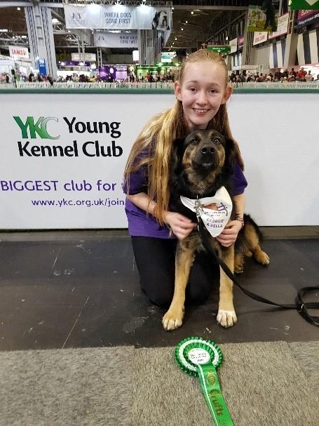 Year 9 Georgie up for Kennel Club Award