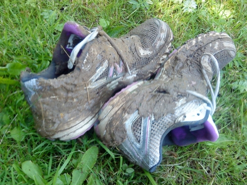 muddy trainers