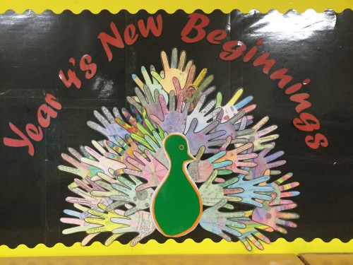 Year 4 New Beginnings Display