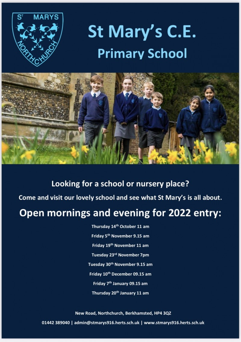 Open mornings and evening dates revealed!