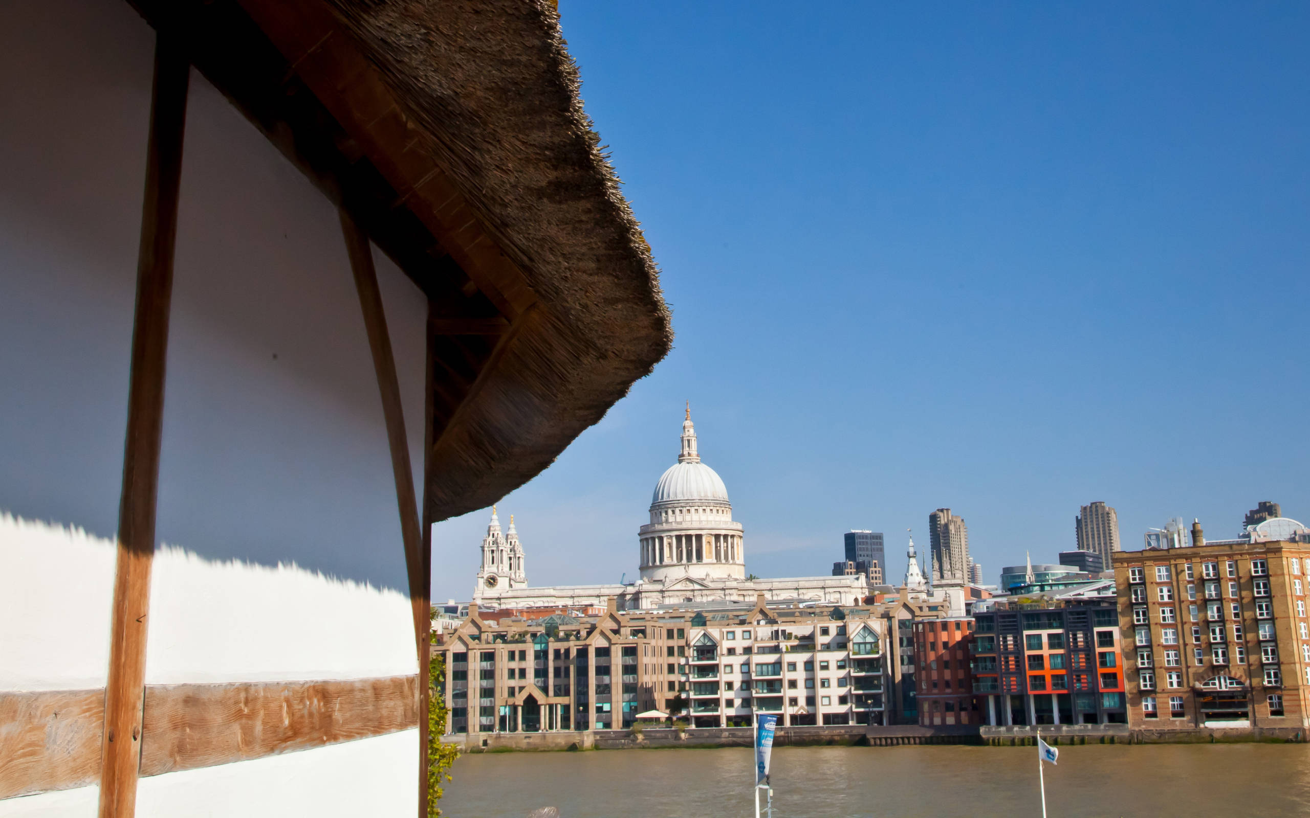 A view of St Paul's Cathedral from the Globe Theatre