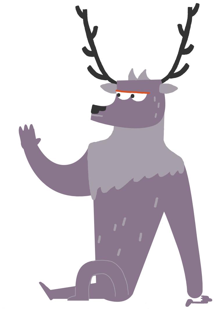 An illustration of a deer