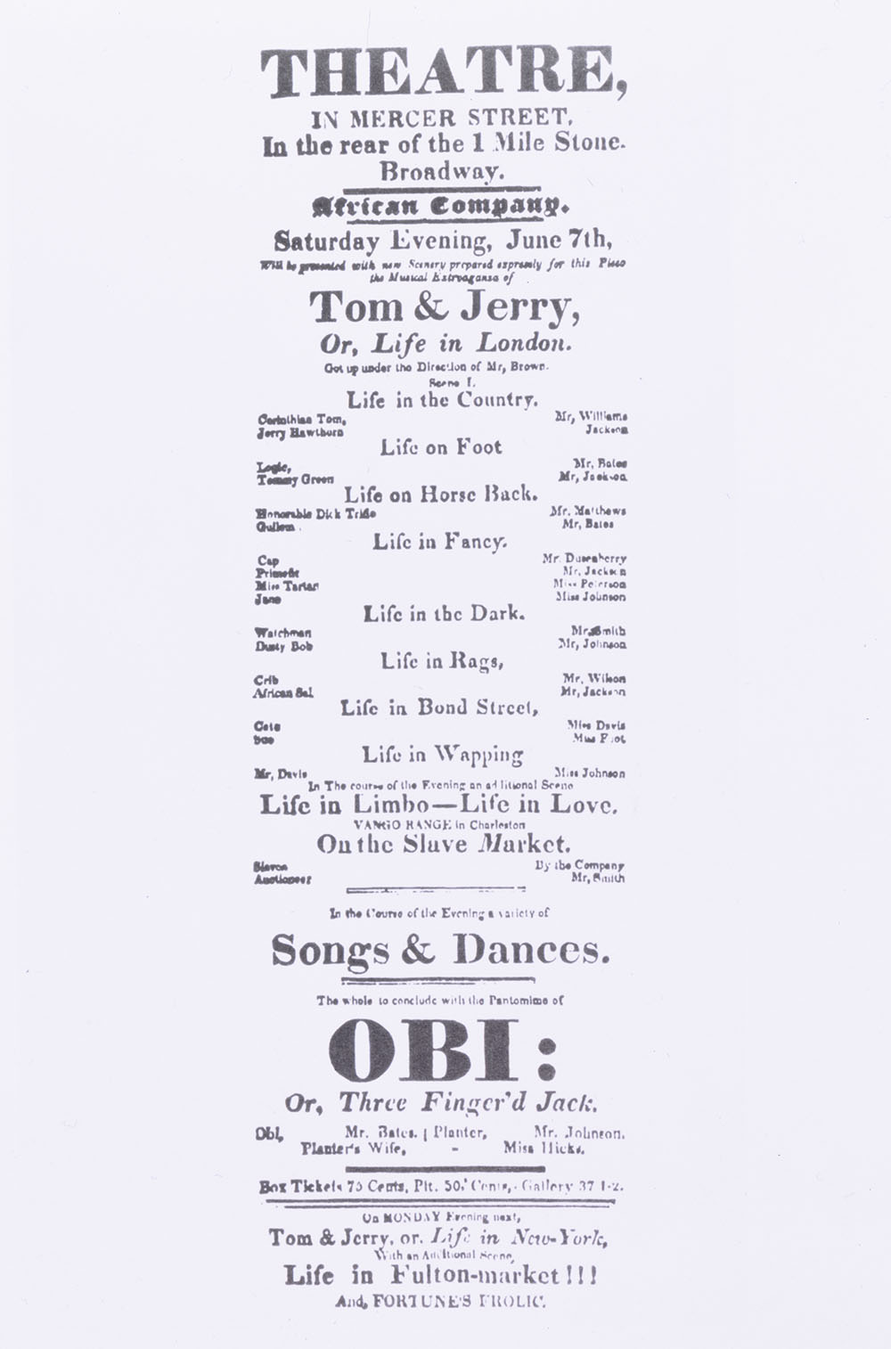 A poster advertising performances at the Grove Theatre.