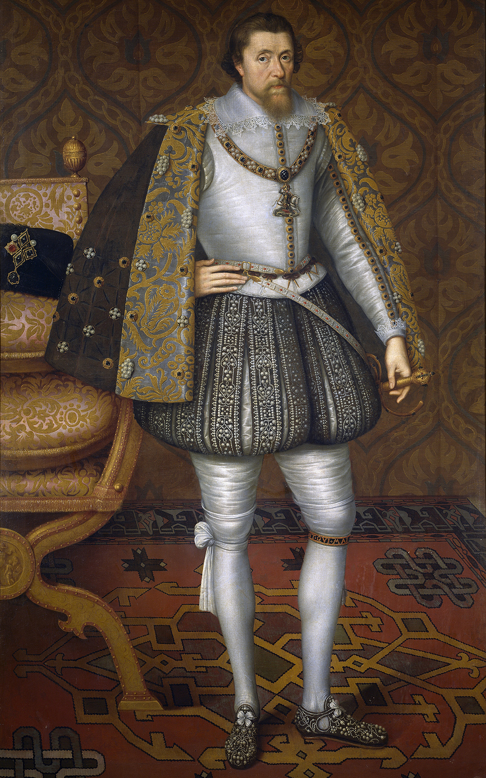Painting of King James I of England.