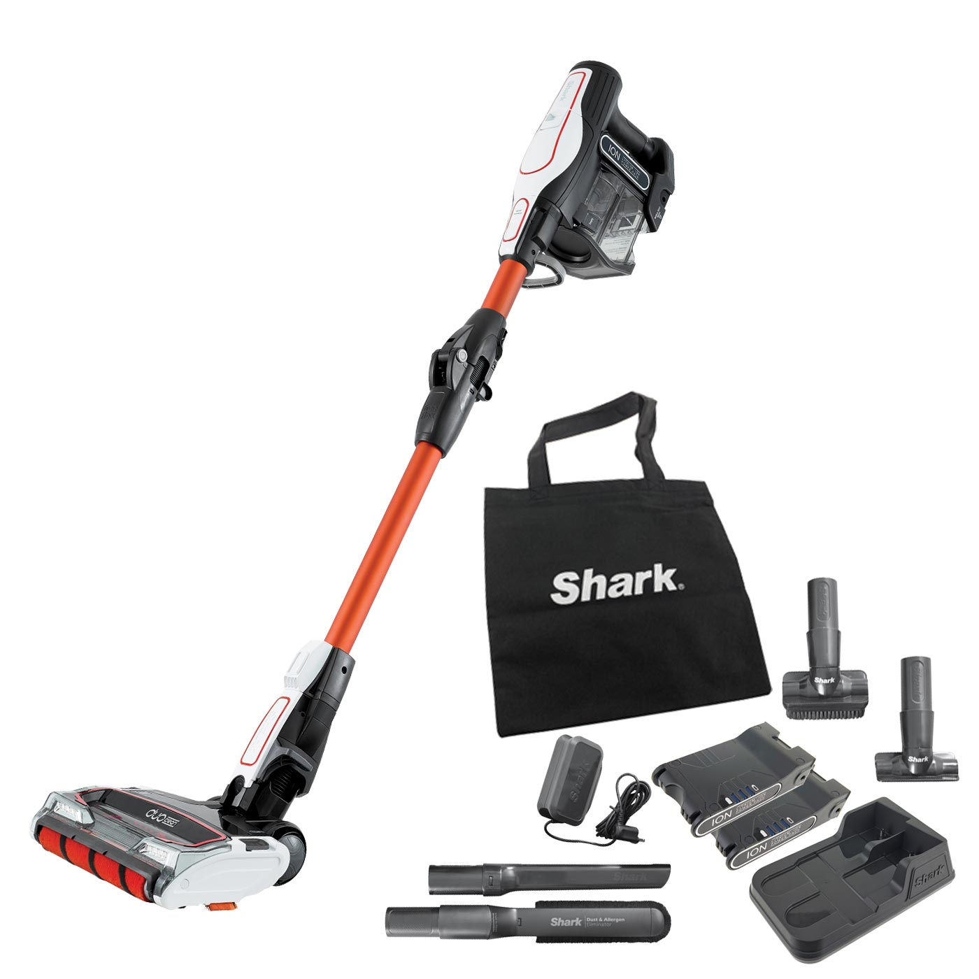 Shark DuoClean Cordless Vacuum Cleaner with Flexology [Twin Battery] IF250UK