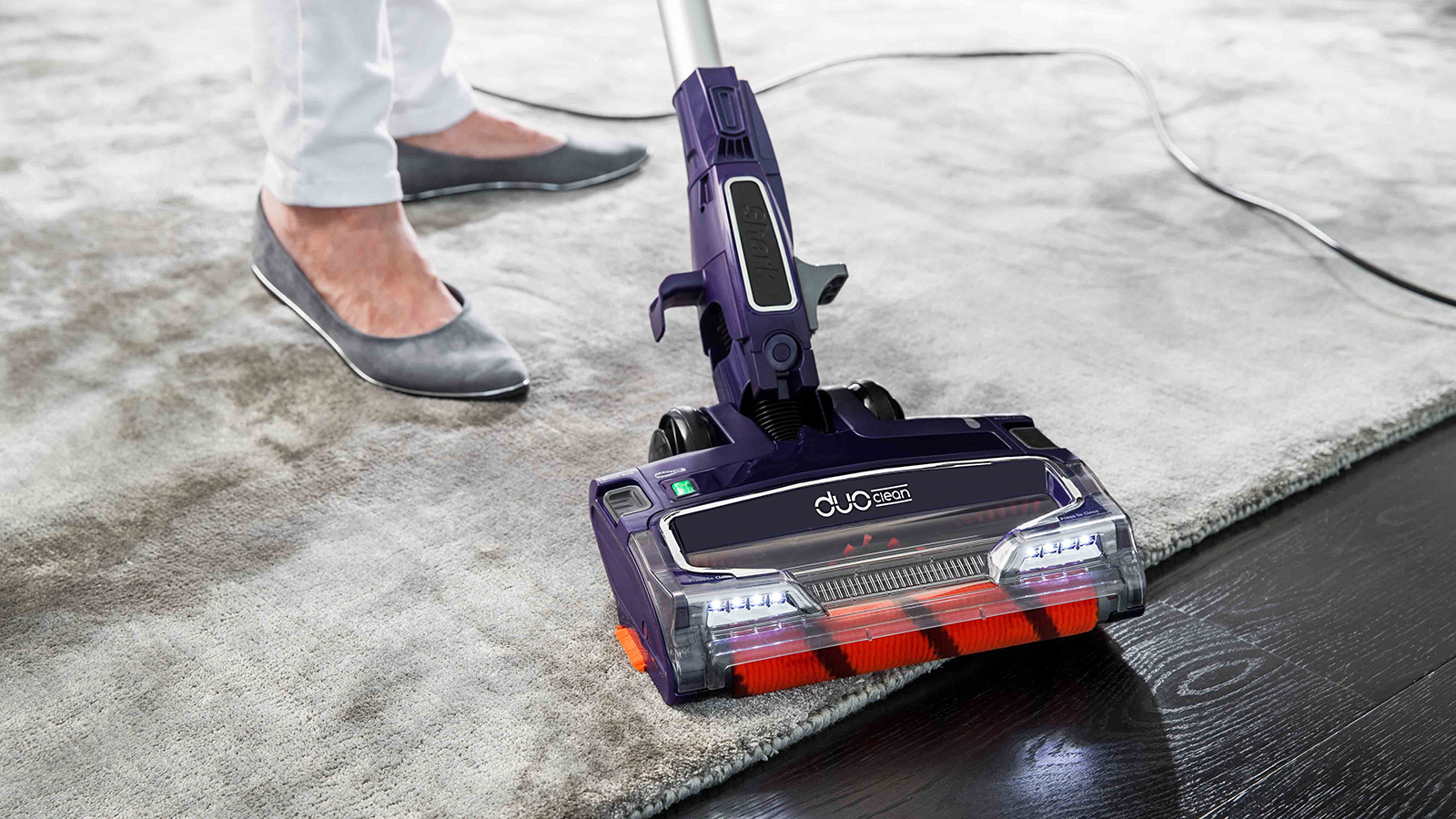 Carpet & Hard Floor Cleaning with Shark DuoClean Corded Stick Vacuum Cleaner