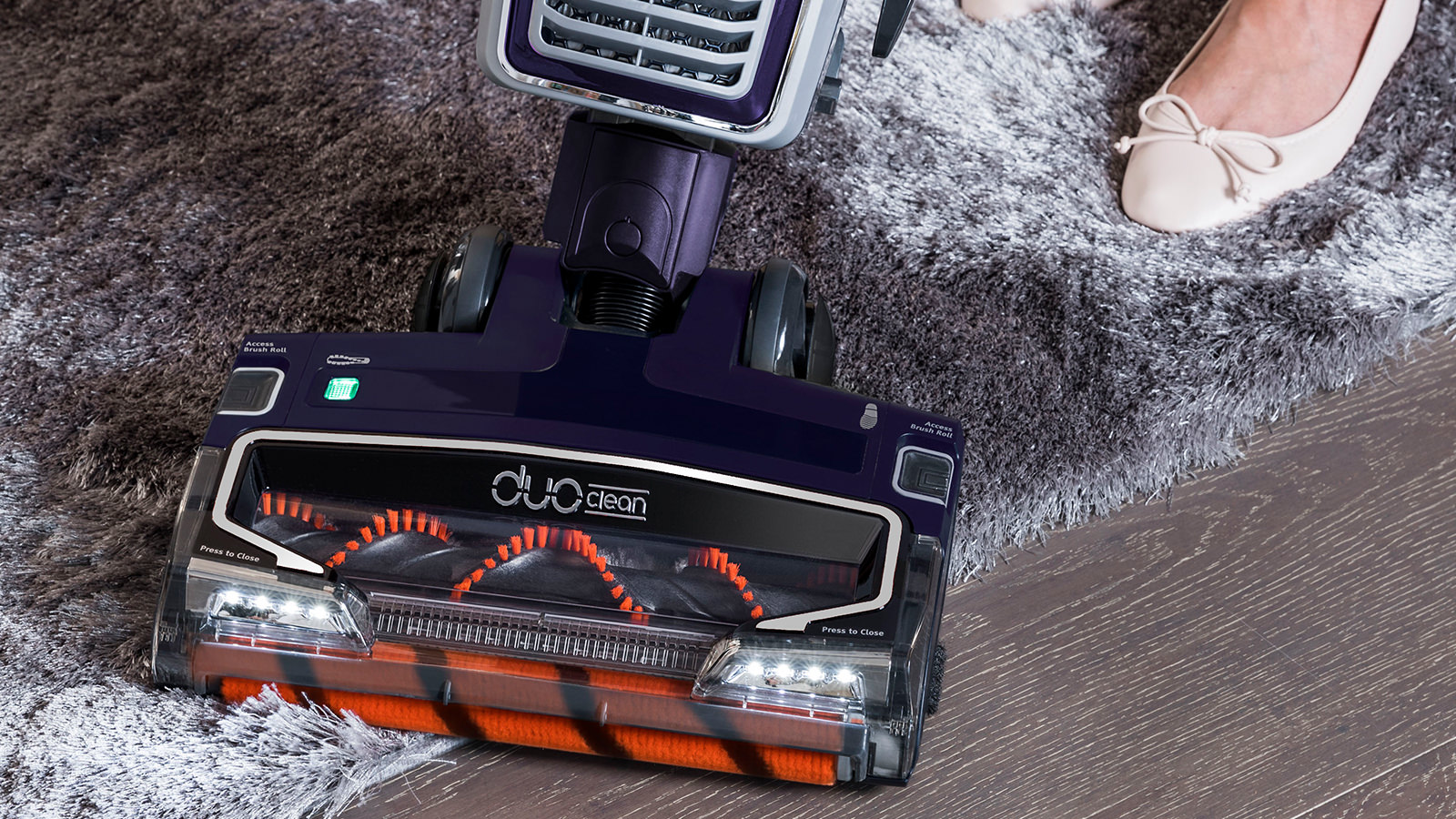 Clean both carpets and hard floors with the Shark DuoClean Upright Vacuum Cleaners with Powered Lift-Away AX910UK