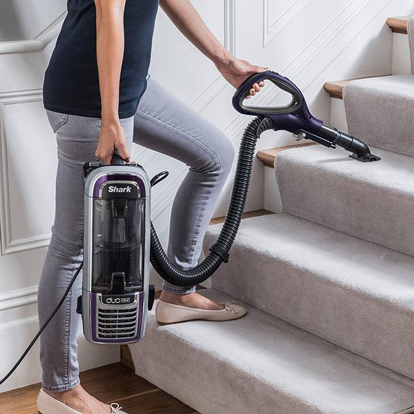 Versatile Cleaning on Stairs with the Shark DuoClean Upright Vacuum Cleaners with Powered Lift-Away AX910UK