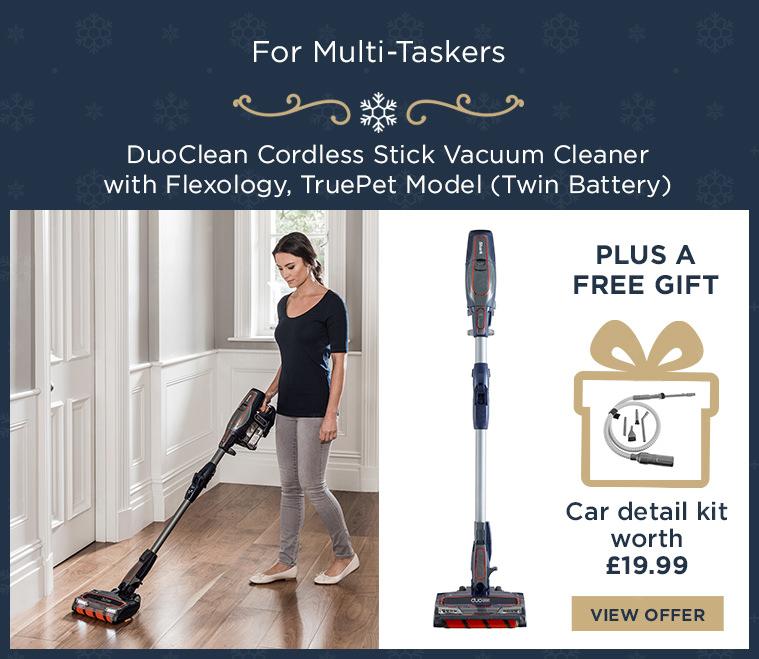 Shark DuoClean Cordless Stick Vacuum Cleaner with Flexology, TruePet Model [Twin Battery] IF250UKT
