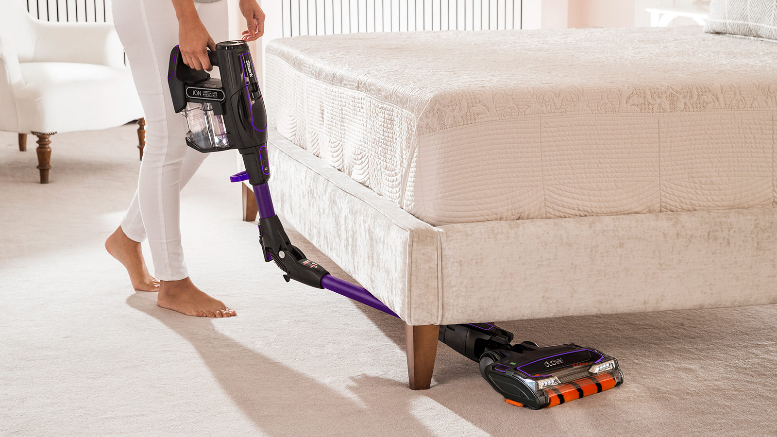 Under Furniture Cleaning with Flexology on Shark Cordless Vacuum Cleaner IF130UKTH