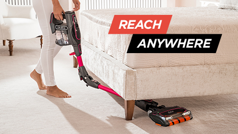 shark cordless vacuum cleaner with flexology in pink