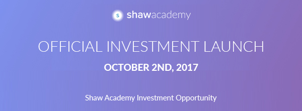 Official Investment Launch October 2nd, 2017