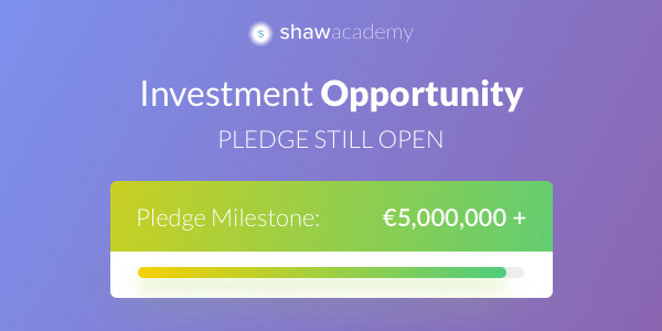 investment Opportunity | Pledge Milestone: €5,000,000 +