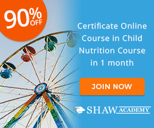 Certificate in Child Nutrition Shaw Academy