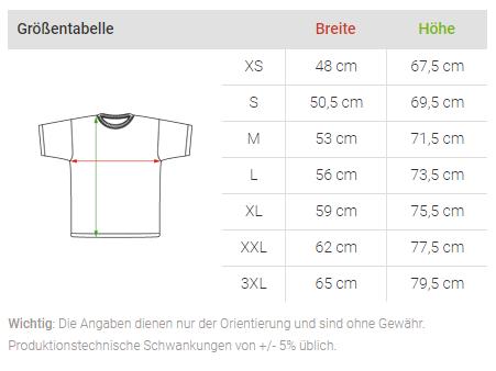 Größentabelle HAPPY ANKER (White) Herren BIO Sweatshirt