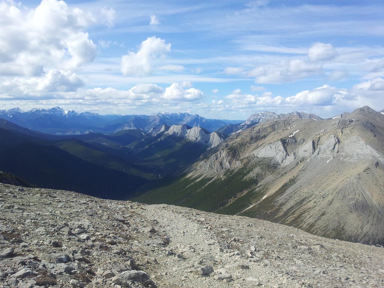 Výhled ze Sulphur Summit