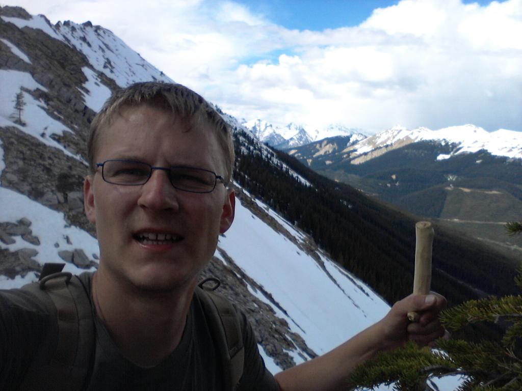 Vlevo nahoře Willowbank mountain, co by kamenem dohodil, bohužel dále neschůdné