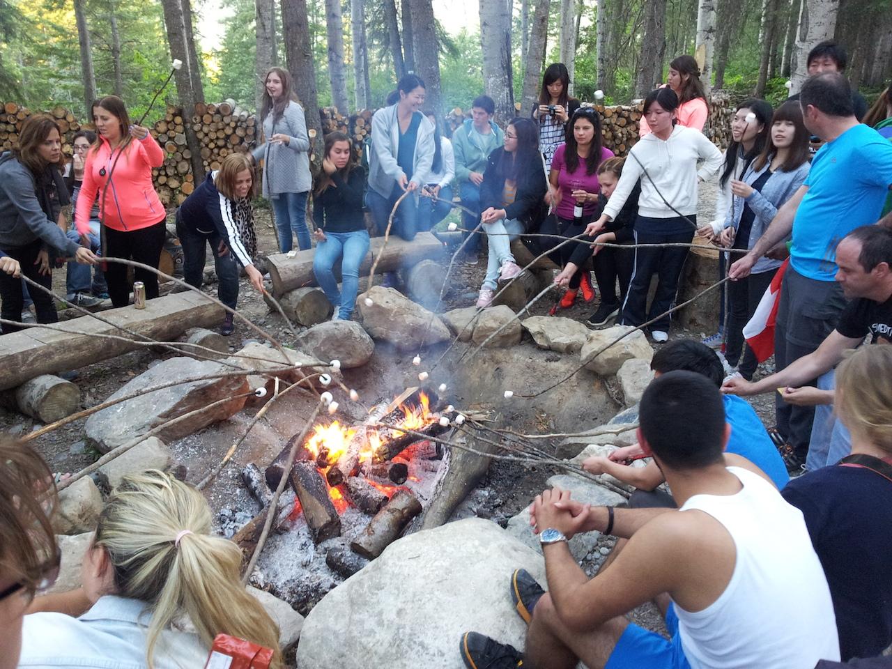 Spokojení návštěvníci jsou nasycení návštěvníci, teď už jenom marshmallows