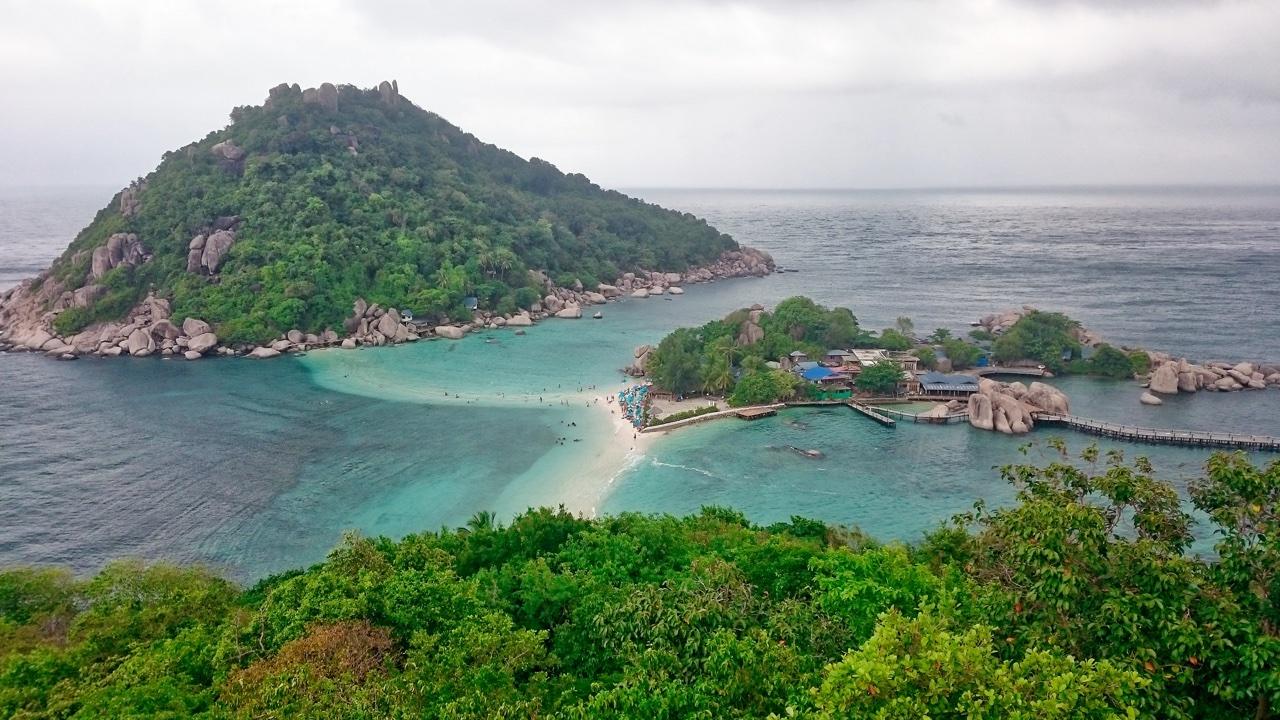 Vyhlídka na ostrově