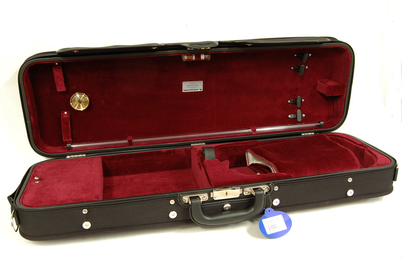 Wooden oblong violin case by Jacob Winter, Germany