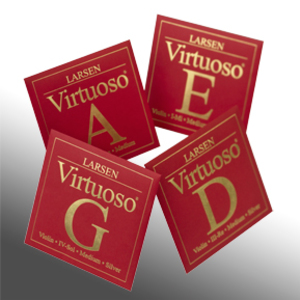 Larsen Virtuoso violin strings. SET