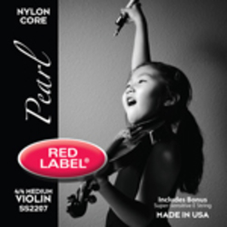 Red Label Pearl violin strings. SET