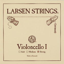 Larsen cello string, A (I) 1/8-3/4 size