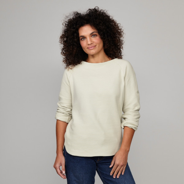 Damen Tunika Sweatshirt sand