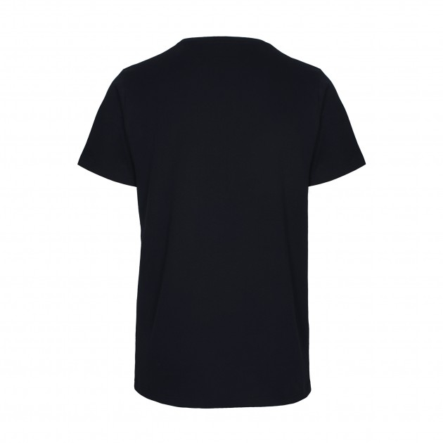 Herren Basic T-Shirt Kurzarm nachtblau