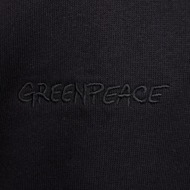 Herren Kapuzenjacke mit Greenpeace Logostick schwarz