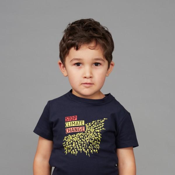 "Kids T-Shirt ""Stop Climate Change"" nachtblau"