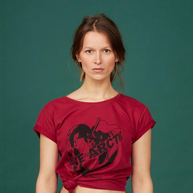 "Damen T-Shirt ""Save the Arctic"" biking red"