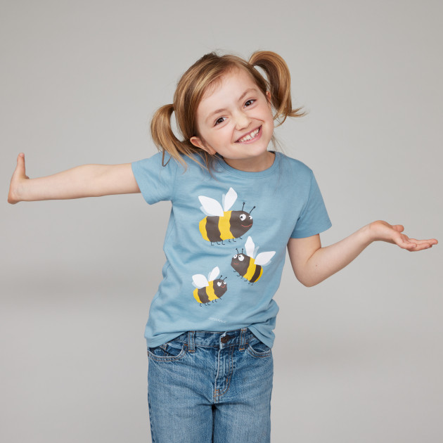 "Kids T-Shirt ""Hummel"" steinblau"