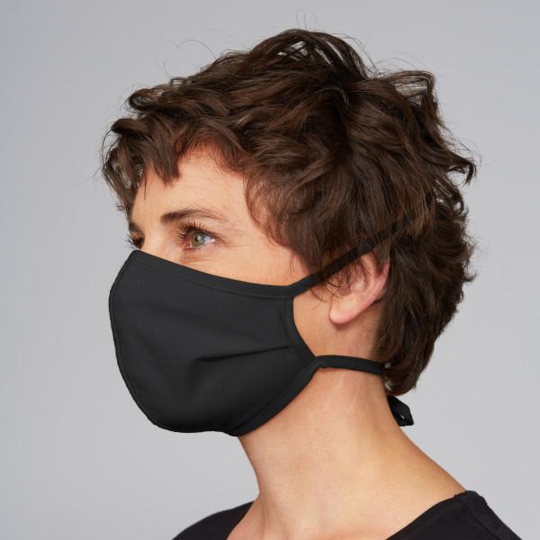 """Stoffmaske """"Halbkugel-Form"""" schwarz"""