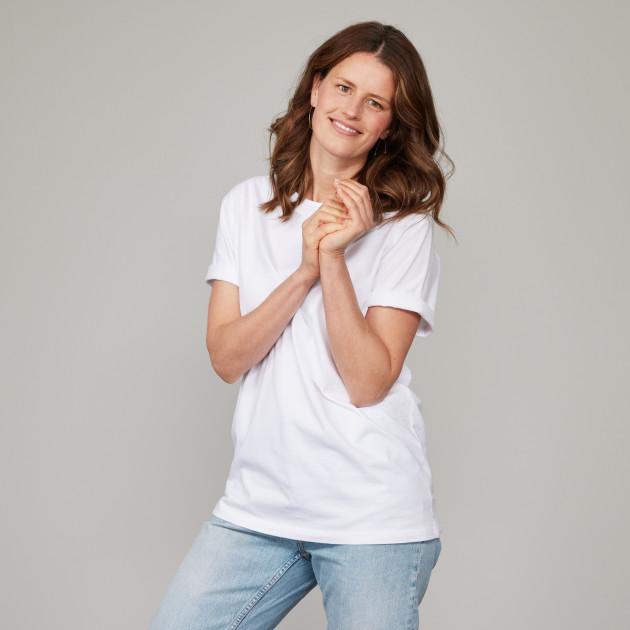 Basic T-Shirt Kurzarm mit GP Logostick weiß
