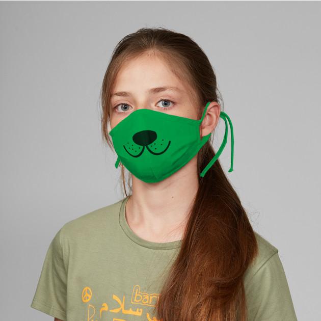 """Stoffmaske """"Bärennase"""" grün"""